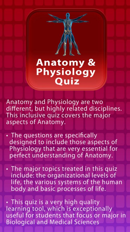 ANatomy and Physiology quiz